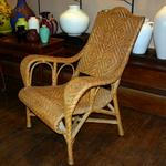French Art Deco Rattan Chair.